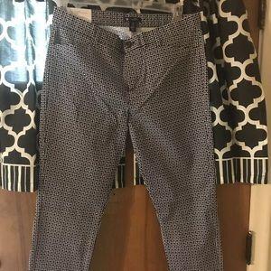 Gap Slim City Printed Pants Women's 10R.